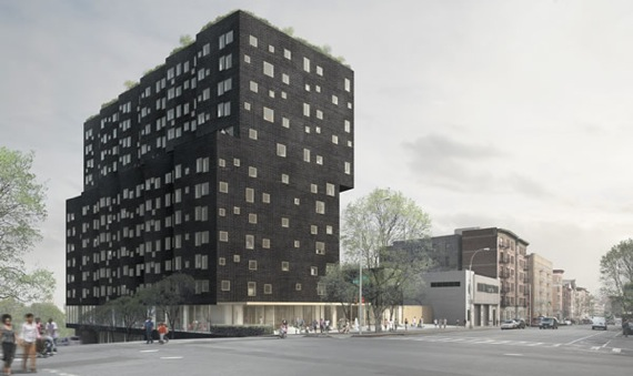 A rendering of the new Sugar Hill development