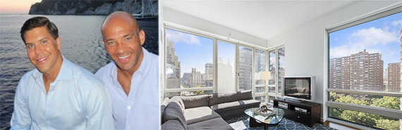 From left: Fredrik Eklund, John Gomes and 261 West 28th Street in Chelsea