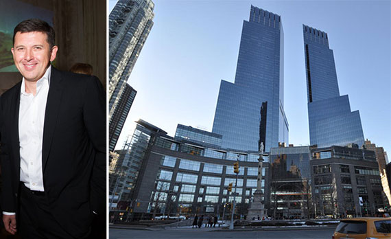 From left: Oleg Baibakov and 80 Columbus Circle