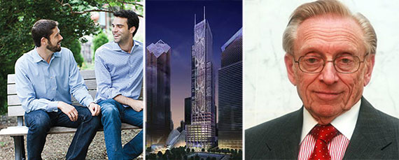 Fundrise's Ben and Daniel Miller, 3 World Trade Center and Larry Silverstein