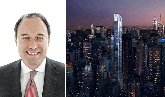 From left: Gary Barnett and a rendering of One57