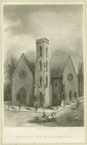 An early sketch of the church via the NYPL