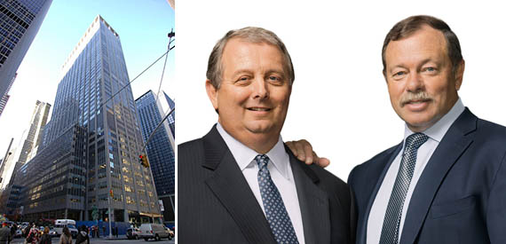 From left: 1301 Sixth Avenue in Midtown and CohnReznick co-CEOs Kenneth E. Baggett and Thomas J. Marino