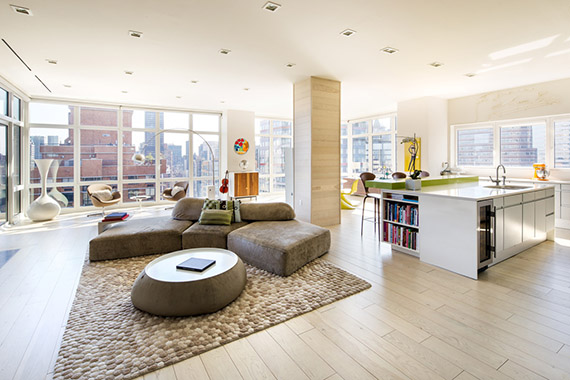 """Penthouse from """"The Wolf of Wall Street"""" at 300 East 55th Street in Sutton Place"""