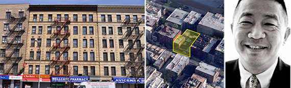 From left: 567 West 125th Street in Harlem, 439-443 West 54th Street in Manhattan and Sam Chang