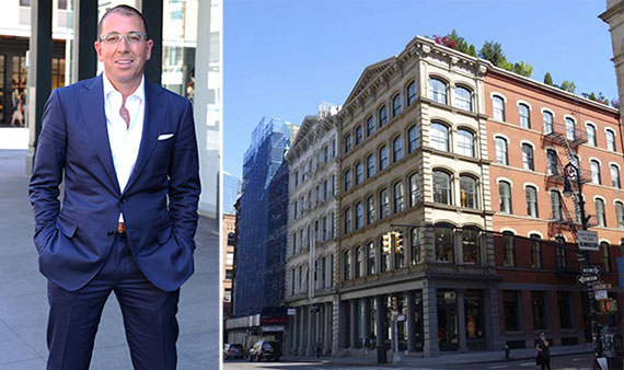 From left: Joe Sitt and 470 Broome Street, Soho