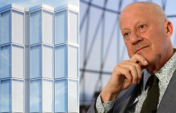 A rendering of One Hundred East 53rd Street (Credit: Foster + Partners/DBOX) and Sir Norman Foster
