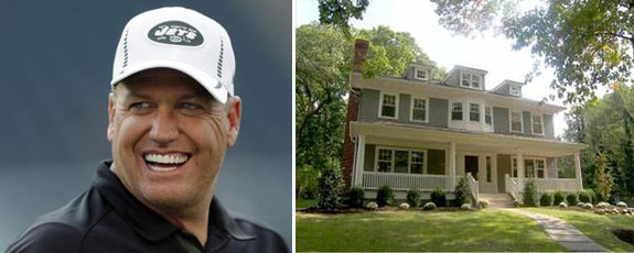 Rex Ryan and his New Jersey home