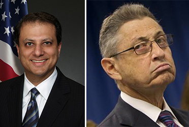 From left: Preet Bharara and Sheldon Silver