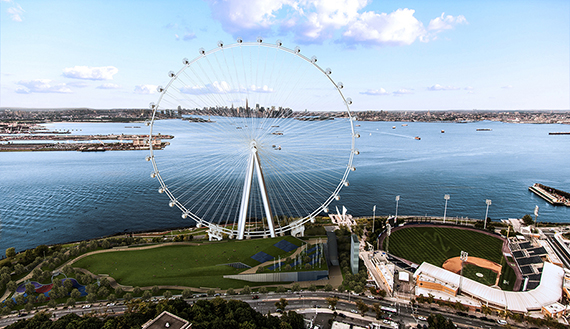 Rendering of the New York Wheel on Staten Island