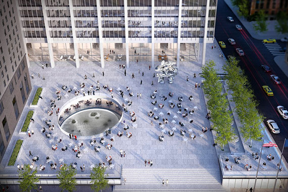 Rendering of the plaza at 28 Liberty