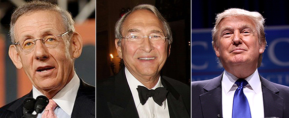 From left: Stephen Ross, Sheldon Solow and Donald Trump