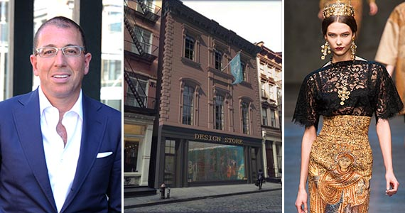 From left: Joseph Sitt, 155 Mercer Street in Soho and a Dolce & Gabbana model