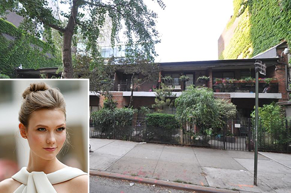 151 Charles Street in the West Village (inset: Karlie Kloss)