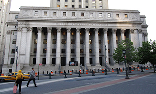 Thurgood Marshall United States Courthouse in Lower Manhattan