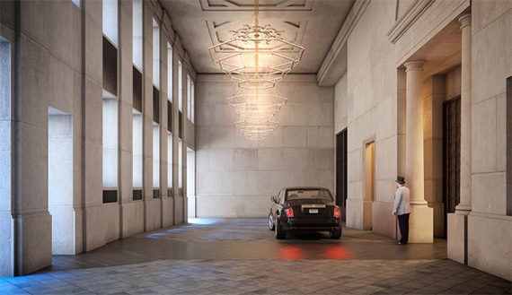 A rendering of the entrance at 111 West 57th Street (Credit: Property Markets Group)