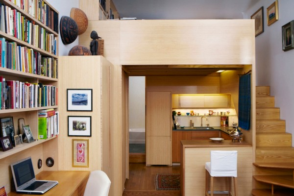 A 240-square-foot micro-apartment (Credit: Tim Seggerman)