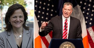 From left: Melissa Mark-Viverito and Bill de Blasio