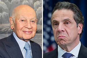 From left: Leonard Litwin and Andrew Cuomo