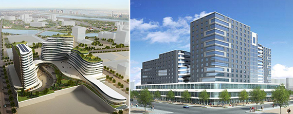 Renderings of Two Fulton Square in Flushing (credit: Margulies Hoelzli Architecture)