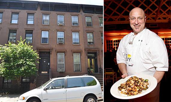 From left: 366 Adelphi Street in Brooklyn and Tom Colicchio