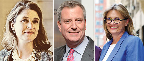 Alicia Glen Bill de Blasio Vicki Been