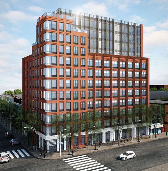 Rendering of 470 Fourth Avenue in Park Slope (Credit: Ariel Aufgang Architects)