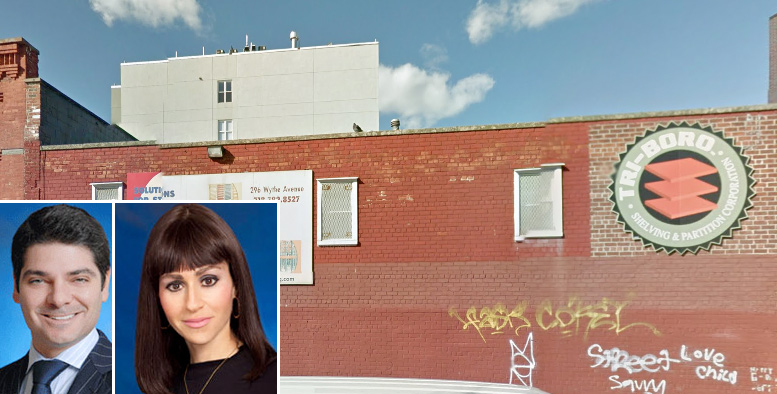 Gabriel Saffiotti and Nicole Rabinowitsch (inset) and 296 Wythe Avenue (Credit: StreetView