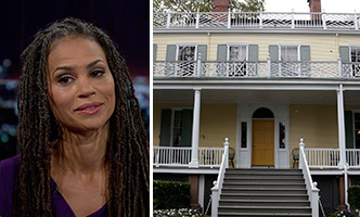 Maya Wiley and Gracie Mansion, which is currently under construction