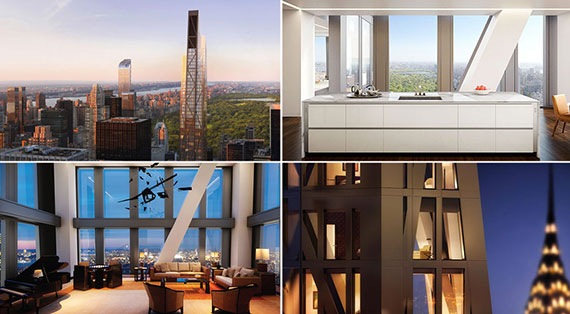 Renderings of the interior of the Jean Nouvel-designed MoMa Tower at 53 West 53rd Street