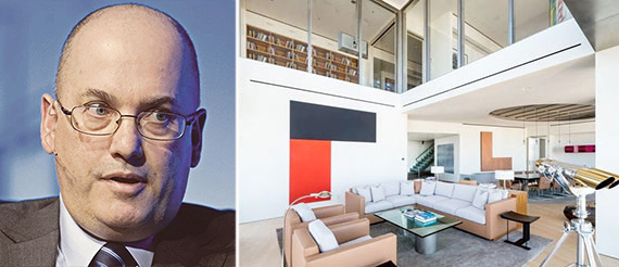 Steven Cohen and his One Beacon Court penthouse in Midtown East