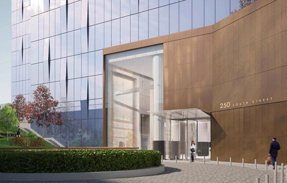 A rendering of Extell Development's 250 South Street