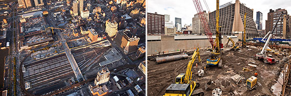 Construction at Hudson Yards on the Far West Side