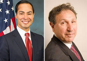 From left: Julian Castro and Carl Weisbrod