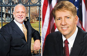From left: Michael Kelly and Richard Cordray