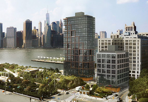 Rendering of Pier 6 development (credit: ODA Architecture)