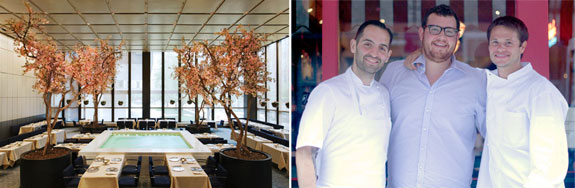 The Four Seasons Poolroom, and restauranteurs Mario Carbone, Rich Torrisi and Jeff Zalaznick