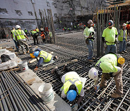 Construction workers in Lower Manhattan