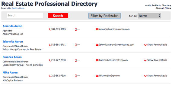Real Estate Pro Directory