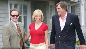 From left: Top broker Tim Davis with third-ranked Susan Breitenbach and Harald Grant, who has the number two spot