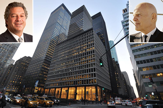 280 Park Avenue in Midtown (inset, from left: Marc Holliday and Steven Roth)