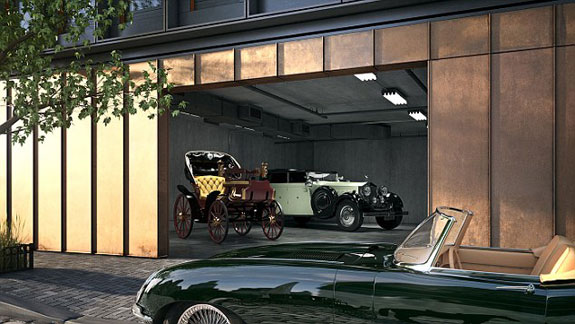 A rendering of the parking at 15 Renwick