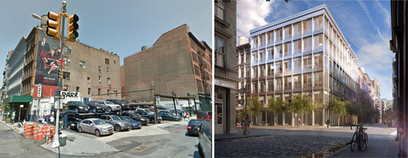 42 Crosby Street and a rendering of the completed project