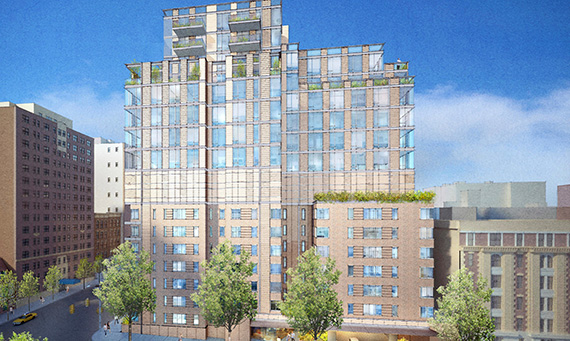 Rendering of 711 West End Avenue (credit: PBDW Architects)