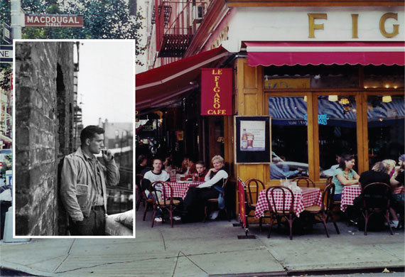 Le Figaro Café closed after 50 years, Jack Kerouac (inset)
