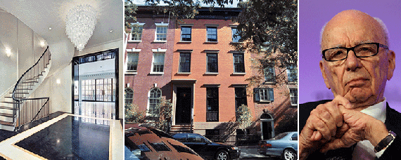 From left: 278 West 11th Street in the West Village and Rupert Murdoch
