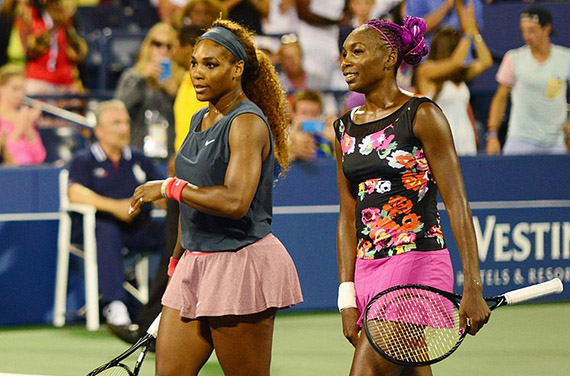 From left: Serena and Venus Williams