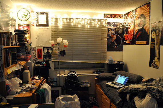 A typical NYU dorm room