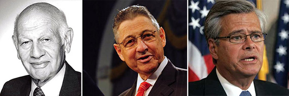 From left: Leonard Litwin, Sheldon Silver and Dean Skelos