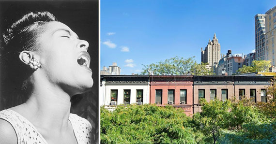 From left: Billie Holiday and 26 West 87th Street on the Upper West Side